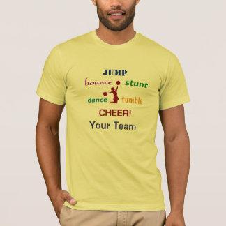 Salte a camisa americana do cheerleader T do salto