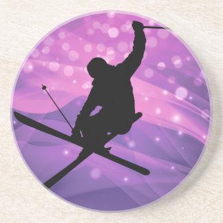 Salto de esqui porta-copos de arenito