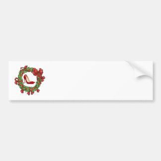 Saltos altos/grinalda vermelhos do Natal Adesivo Para Carro