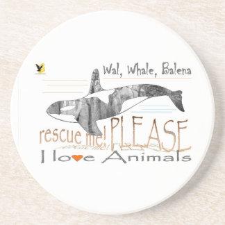 Salva-me a baleia porta copo para bebidas