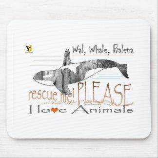 Salva-me a baleia mouse pads