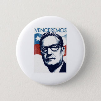Salvador Allende - Venceremos Bóton Redondo 5.08cm