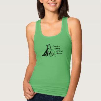 Salvamento animal do efeito de dominó camiseta