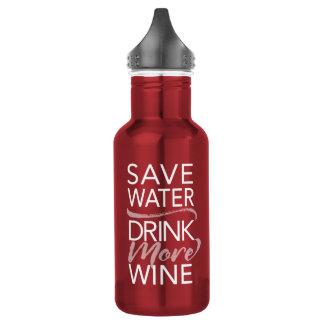 Salvar a bebida da água mais garrafa de água do