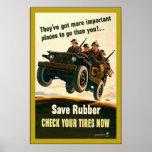 Salvar a borracha! guerra mundial 2 do ~Vintage Impressão