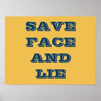 Salvar a cara e encontre-se poster pôster