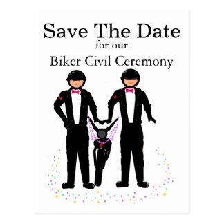 Salvar a cerimónia civil do motociclista/motocicle cartao postal