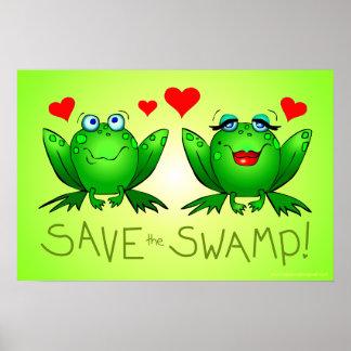 Salvar a conservação do pantanal dos sapos do pânt posteres