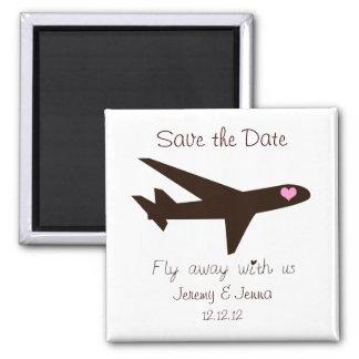 Salvar a data: Avião Imãs De Geladeira