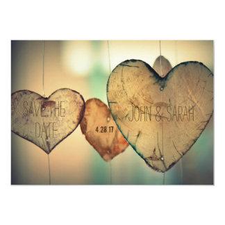 Salvar a data - coração do latido convite 12.7 x 17.78cm