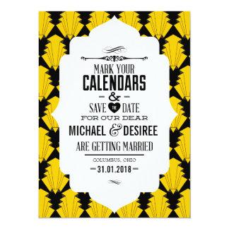 Salvar a data - estilo do art deco convites personalizado