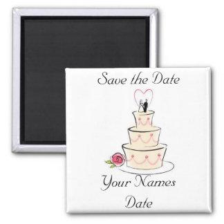 Salvar a data ímã quadrado