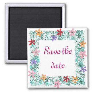 Salvar a data, ímãs da beira da flor imãs