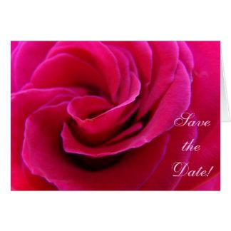 Salvar a data O convite carda o casamento do rosa Cartoes