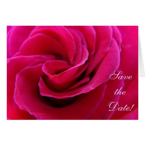 Salvar a data! O convite carda o casamento do rosa Cartoes