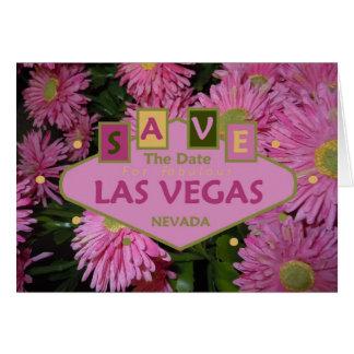 Salvar a data para o cartão fabuloso de Las Vegas