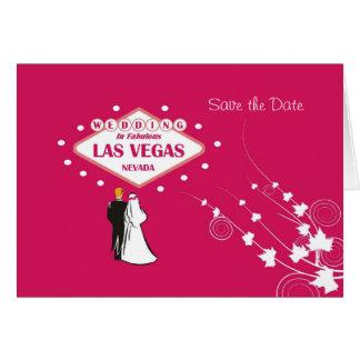 """""""Salvar a data"""" que Wedding em Las Vegas fabuloso Cartão Comemorativo"""