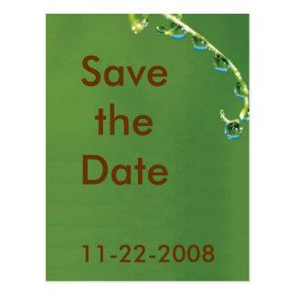 Salvar a folha da data cartão postal