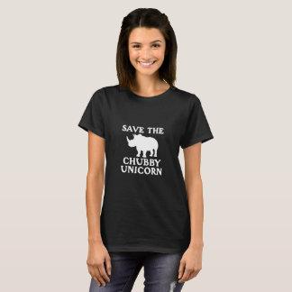 Salvar a presa carnudo pequena do rinoceronte do camiseta