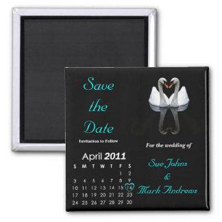 Salvar em abril de 2011 a data, Wedding o anúncio Imã