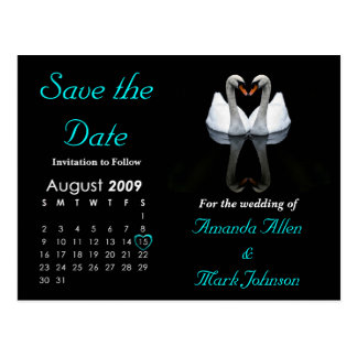 Salvar em agosto de 2009 a data, Wedding o anúncio Cartão Postal