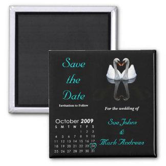 Salvar em outubro de 2009 a data, Wedding o anúnci Imã