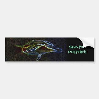 Salvar o autocolante no vidro traseiro do golfinho adesivo para carro