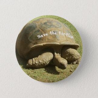 salvar o botão das tartarugas bóton redondo 5.08cm
