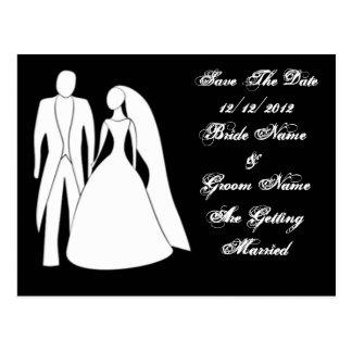 Salvar o cartão da data do casamento cartão postal