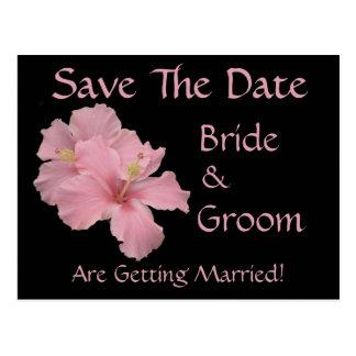 Salvar o cartão da data para a data Wedding Cartão Postal