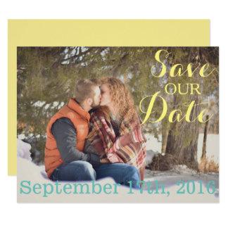Salvar o cartão de data convite 10.79 x 13.97cm