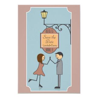 Salvar o cartão de data convite 8.89 x 12.7cm