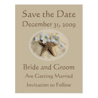 Salvar o casamento de praia da data cartões postais