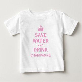 salvar o champanhe da bebida da água tshirt