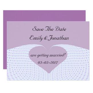 Salvar o convite do coração da borboleta da data
