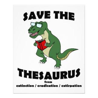 Salvar o dinossauro da enciclopédia flyer 11.43 x 14.22cm