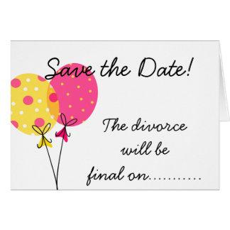 Salvar o divórcio da data será final cartão