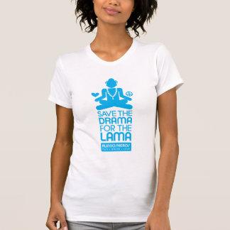 Salvar o drama para a Lama - azul brilhante Tshirt