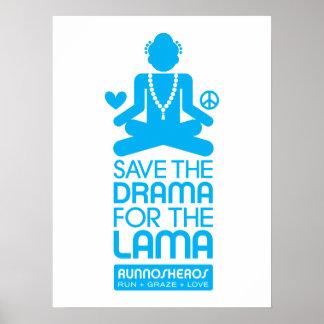 Salvar o drama para a Lama - poster azul brilhante