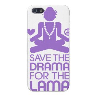 Salvar o drama para a Lama - roxo iPhone 5 Capa