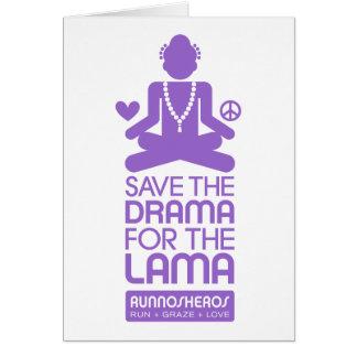 Salvar o drama para a Lama - roxo Cartão