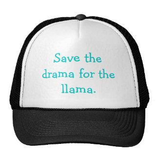 Salvar o drama para o chapéu do lama boné