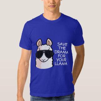 Salvar o drama para seu lama camiseta