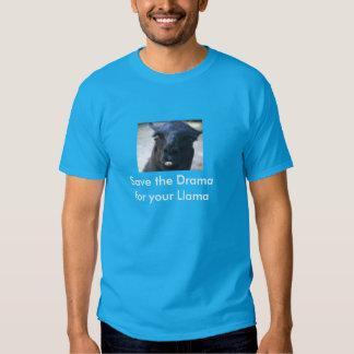 Salvar o drama para seu lama t-shirt