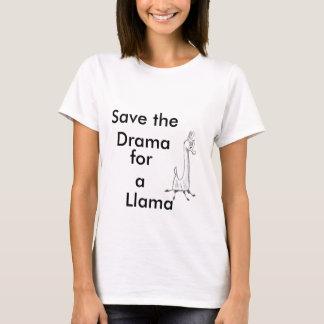 Salvar o drama para um lama tshirts