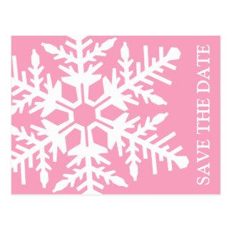 Salvar o floco de neve enorme da data cartão postal