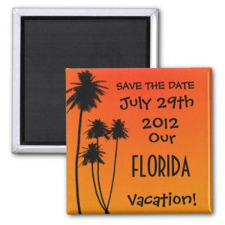 Salvar o ímã das férias da data ímã quadrado