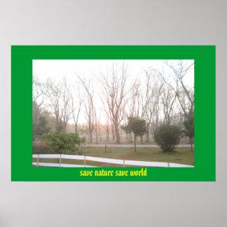 salvar o mundo das economias da natureza pôster