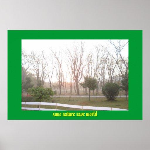 salvar o mundo das economias da natureza posteres