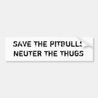 Salvar o neutro de Pitbulls os vândalos Bumperstic Adesivo Para Carro